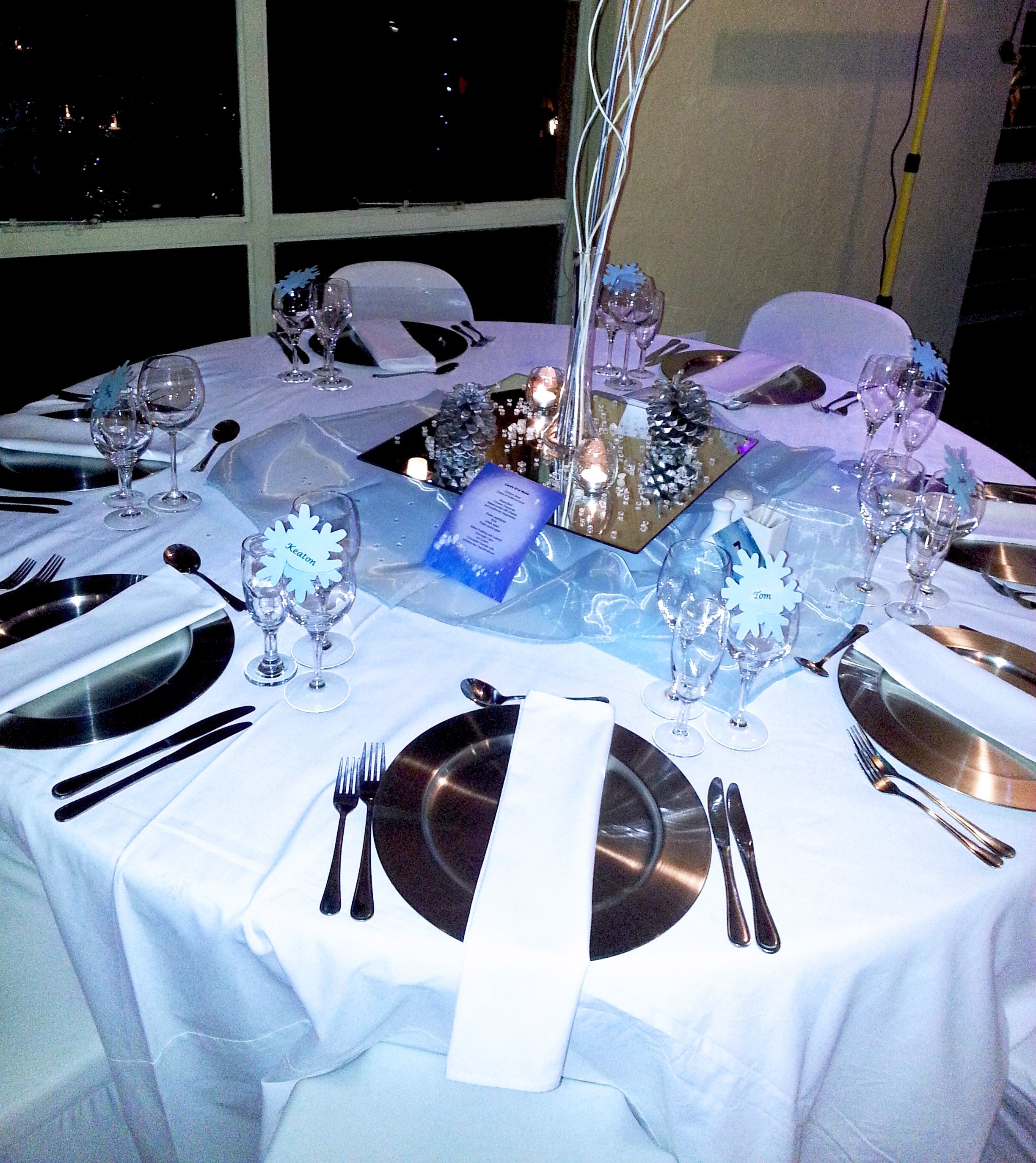 Winter Wonderland Table Decor At Cabanga Conference Centre