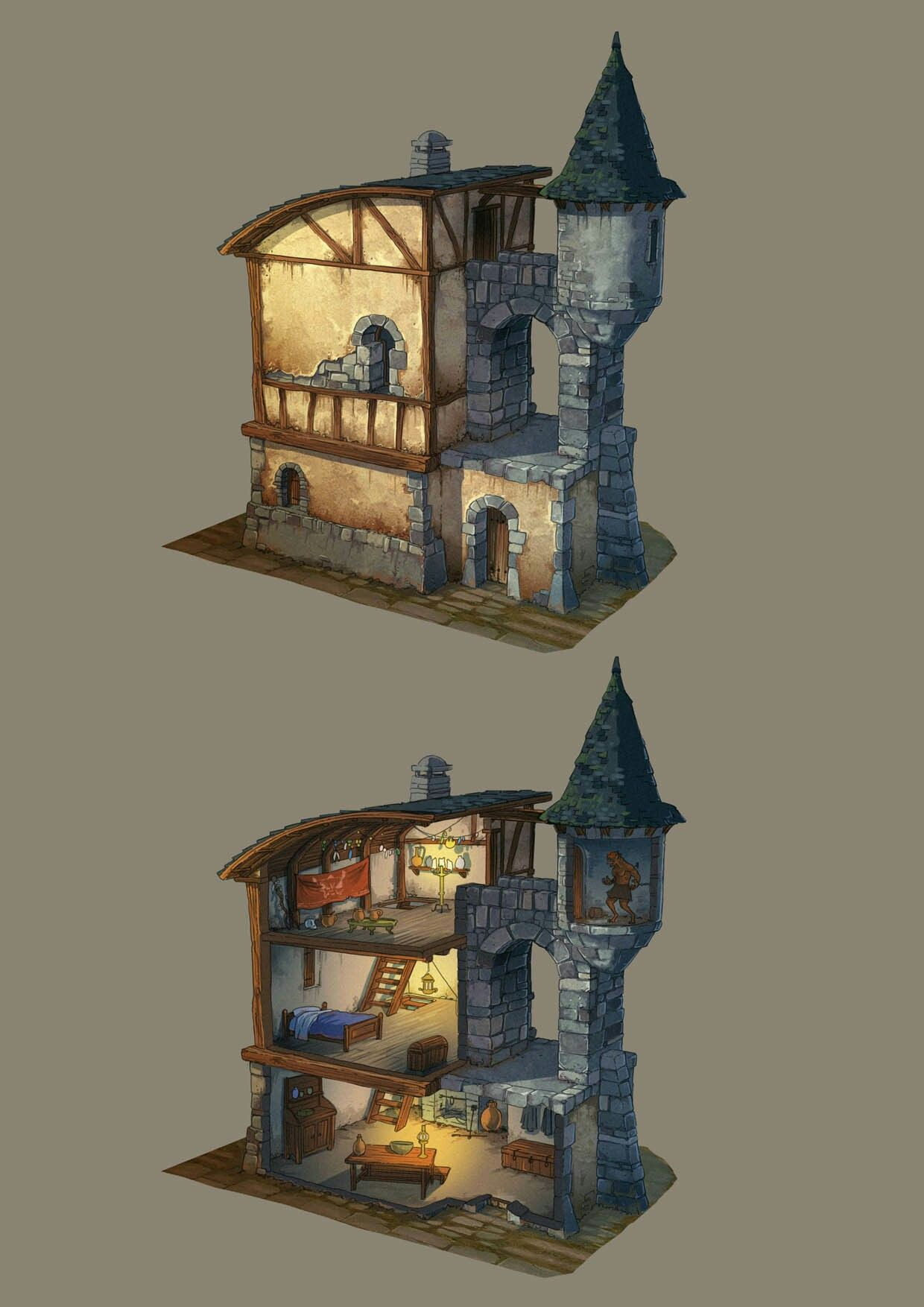 Pin by brian laliberte on maps pinterest building rpg for Art house building design