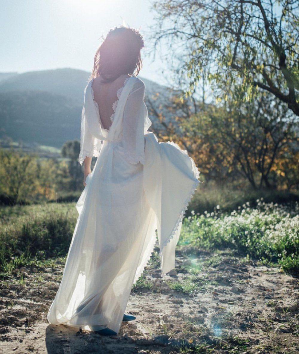 Flare sleeves boho country wedding dress wedding dresses