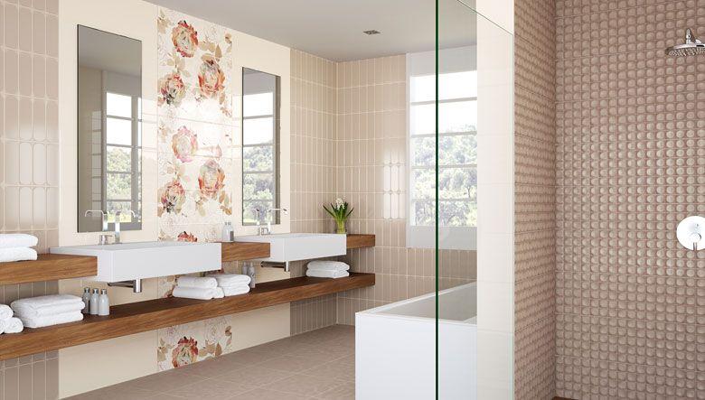 Baldosas de cer mica mosaico para revestir las duchas for Habitaciones con azulejos