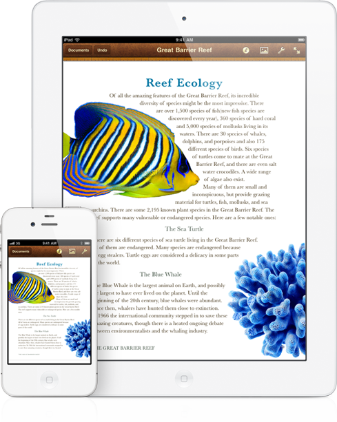 PAGES. I love this word processor for IPad. So easy!! Made