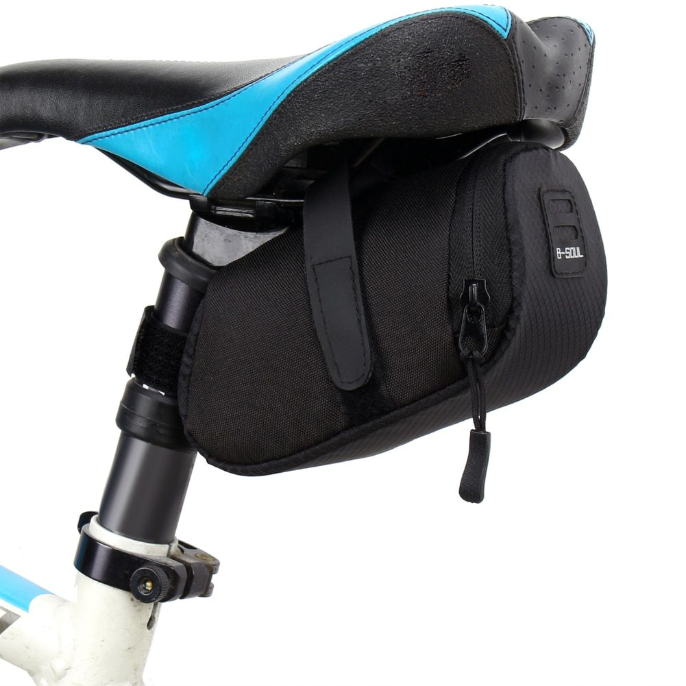 ROCKBROS Bicycle Saddle Rear Bag Waterproof Reflective Bag Seatpost Bag US Black