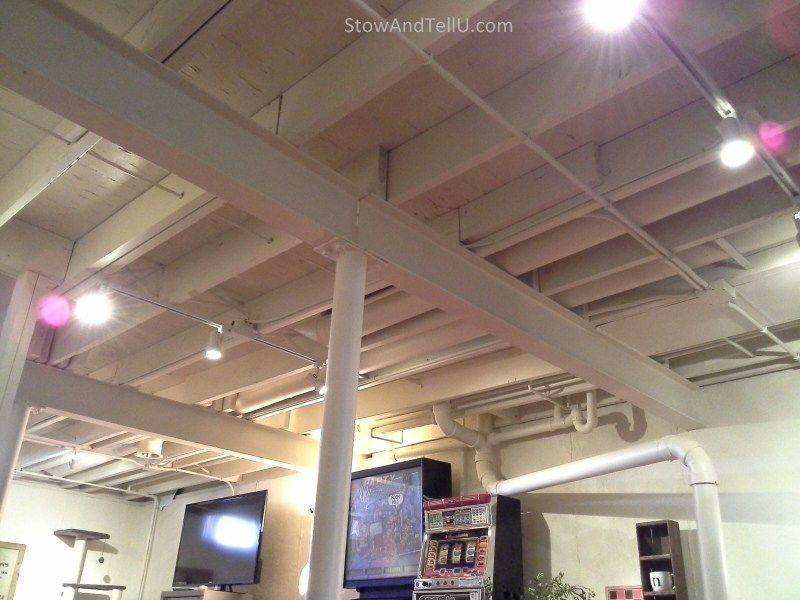 Basement Ceiling Ideas With Removable Bead Board Basement Ceiling