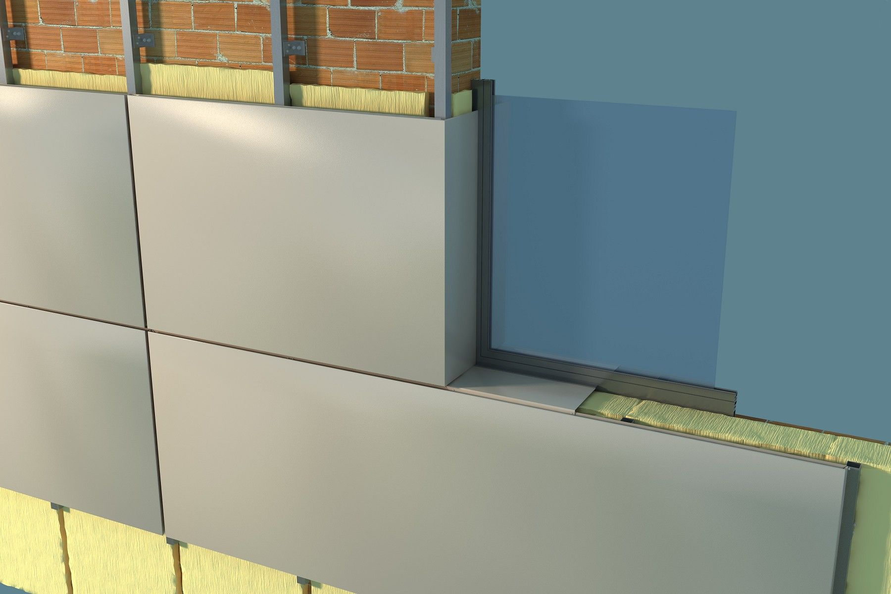 Propuesta para revestir fachadas paneles de composite for Paneles aislantes para fachadas