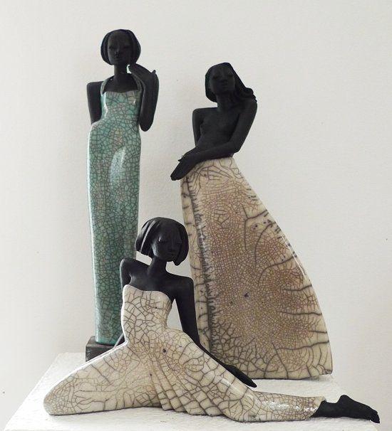 raku figuren shari mary und venus keramik kunst ceramic sculpture keramik kunst. Black Bedroom Furniture Sets. Home Design Ideas