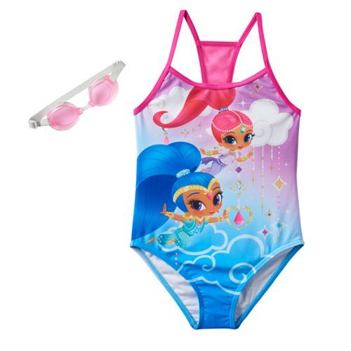 4be9c8fcdf5c3 Girls 4-6x Shimmer & Shine One-Piece Swimsuit | clothes | One piece ...