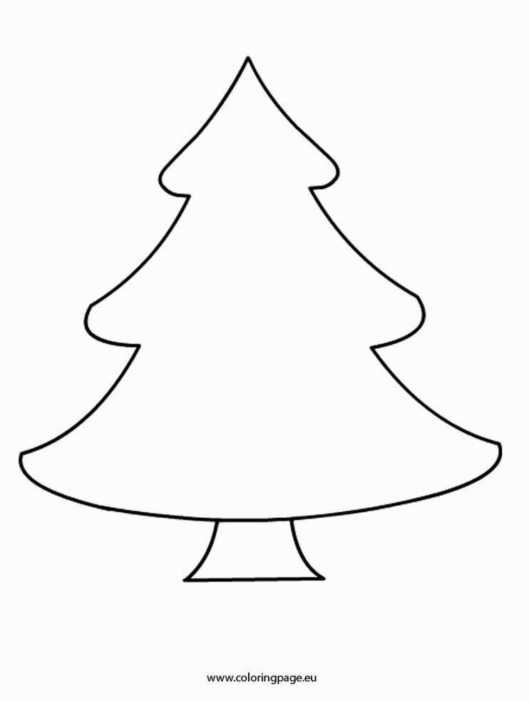 Coloring Page Of A Christmas Tree | Christmas tree ...