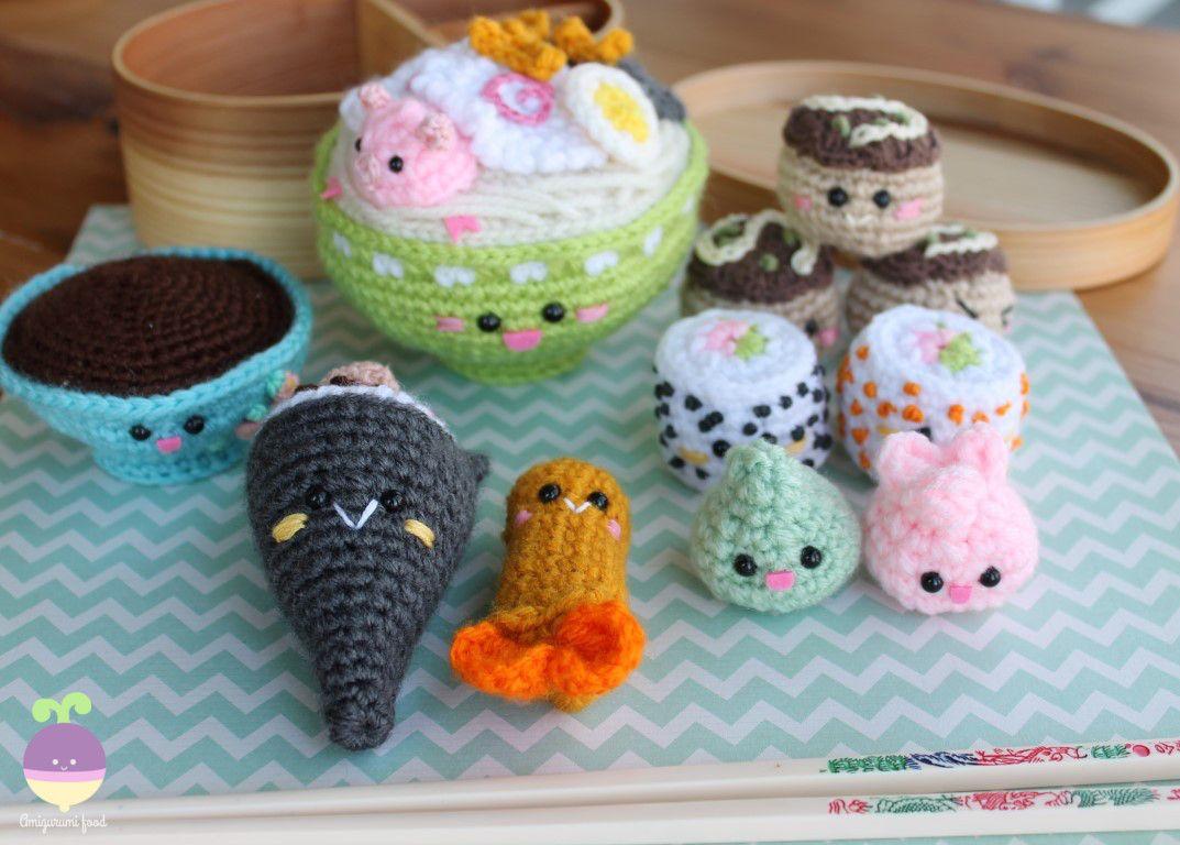 Amigurumi Food: Bento Family II Amigurumi Food Crochet Pattern ...