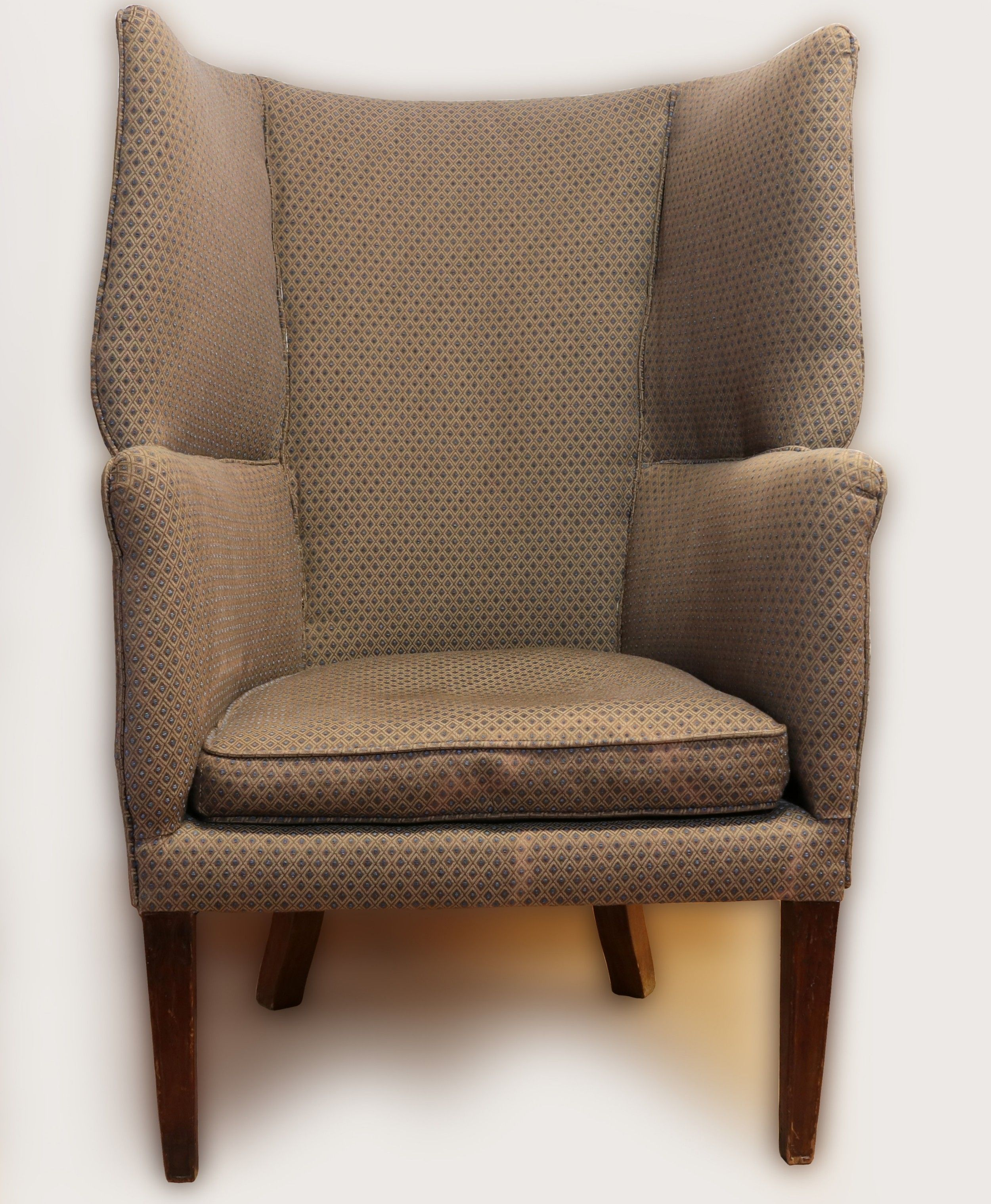 Iii Mahogany Barrelshaped Wing Orkney Chair