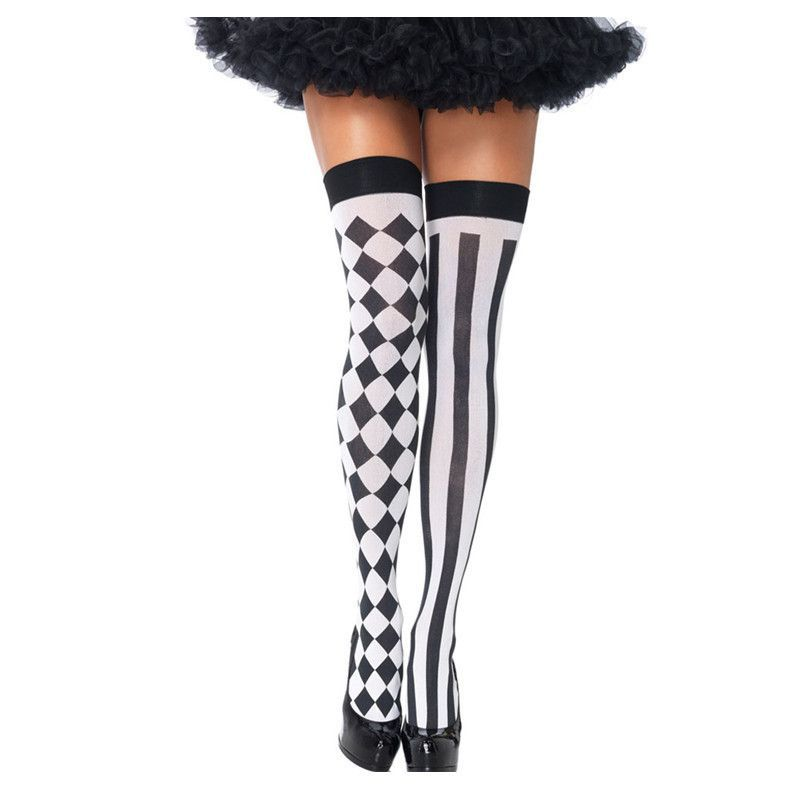 Hot Sale Fashion Casual Style Pantyhose Tight Stockings Womens Harlequin Thigh Highs LC79720 Pantalones Mujer Black Friday