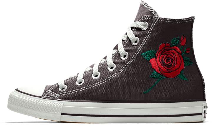 Converse Custom Chuck Taylor All Star Rose Embroidery Low