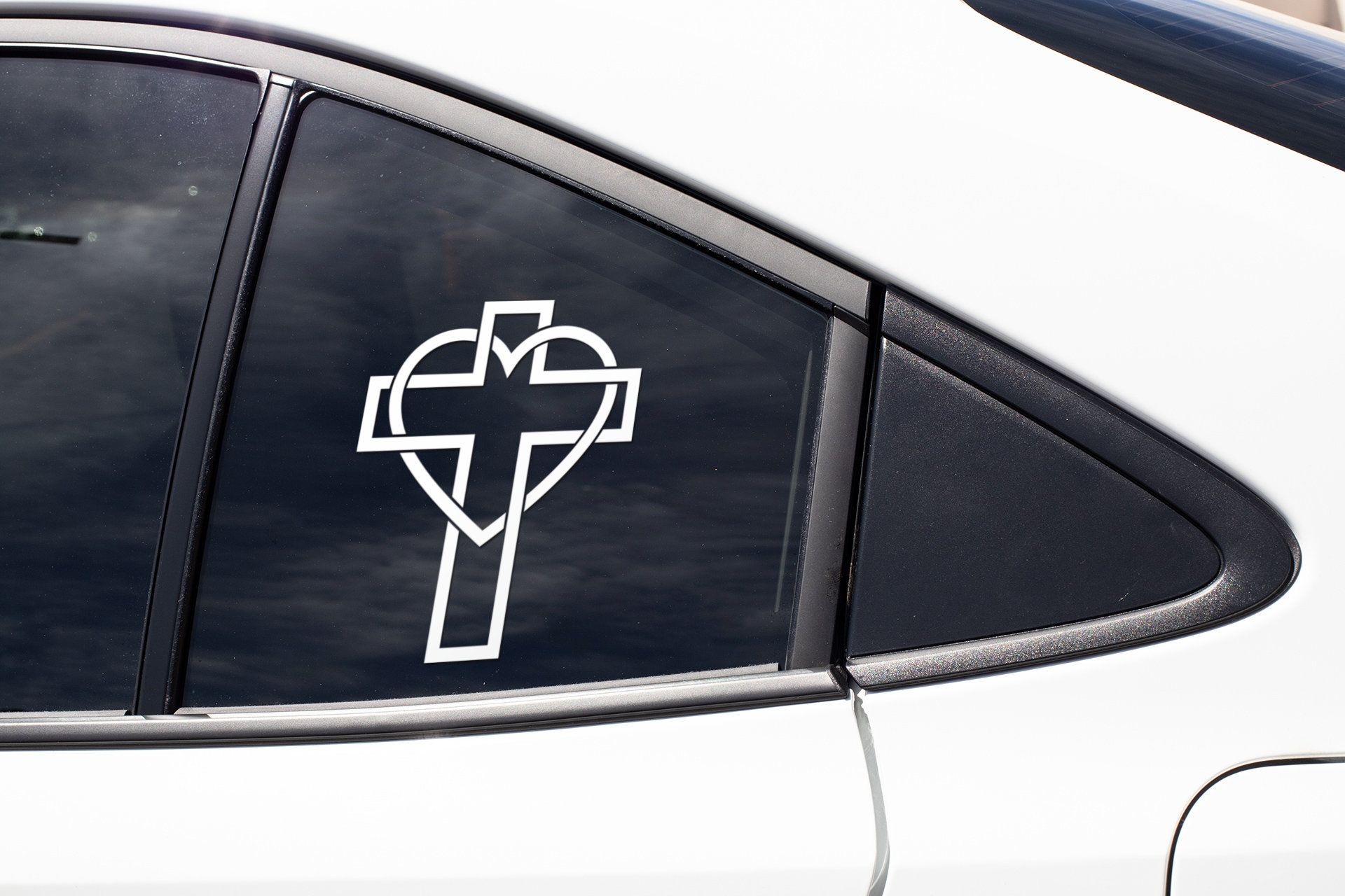 Heart Cross Love Christian God Faith Cute Jesus Christianity Etsy Church Vinyl Cross Love Window Art [ 1280 x 1920 Pixel ]