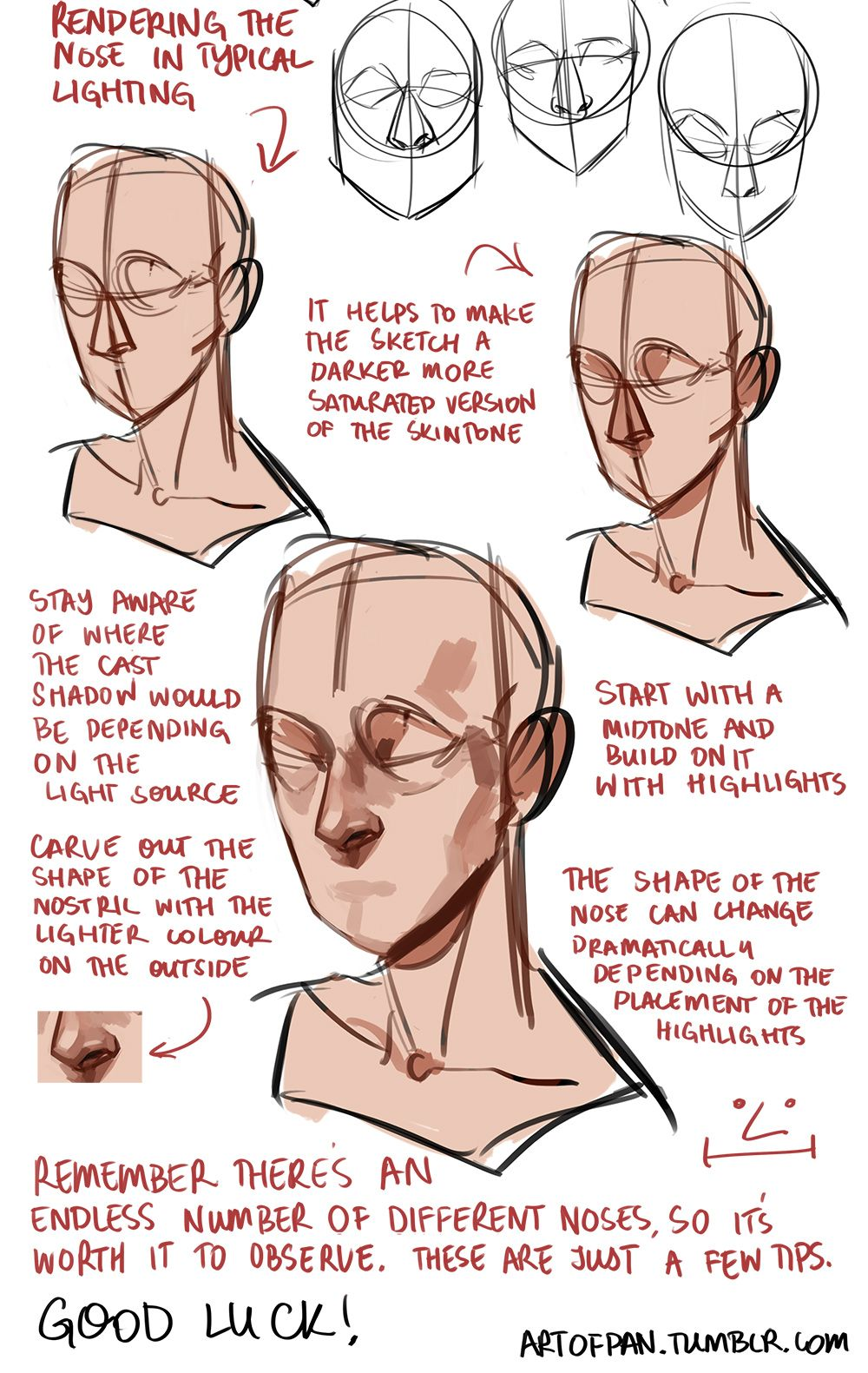 "artofpan "" Whoo, super long nose tutorial! I'm sure there"