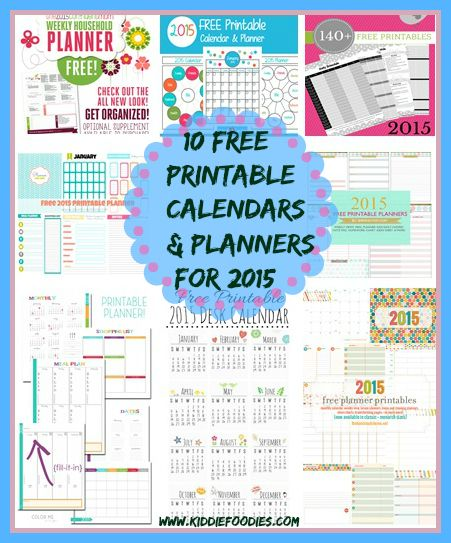 How To Get Organized 10 Free Printable Calendars