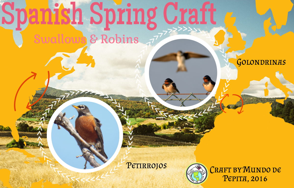 Spanish Spring Craft Swallows And Robins Multicultural Kids