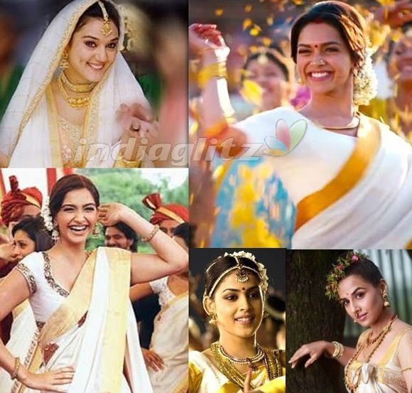 deepika padukone in kerala saree in chennai express ...