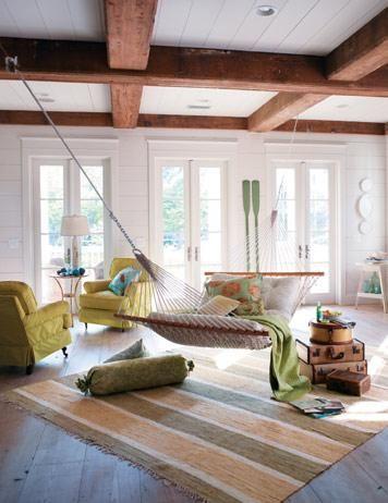 The Exposed Beams The Hammock  Home Decorating Ideas Brilliant Living Room Hammock Design Ideas