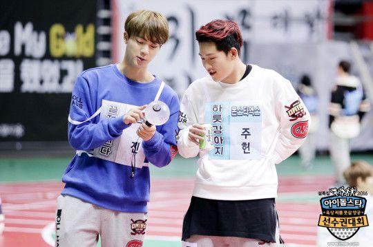 Jin + Jooheon | 2016 Idol Star Athletics Championships
