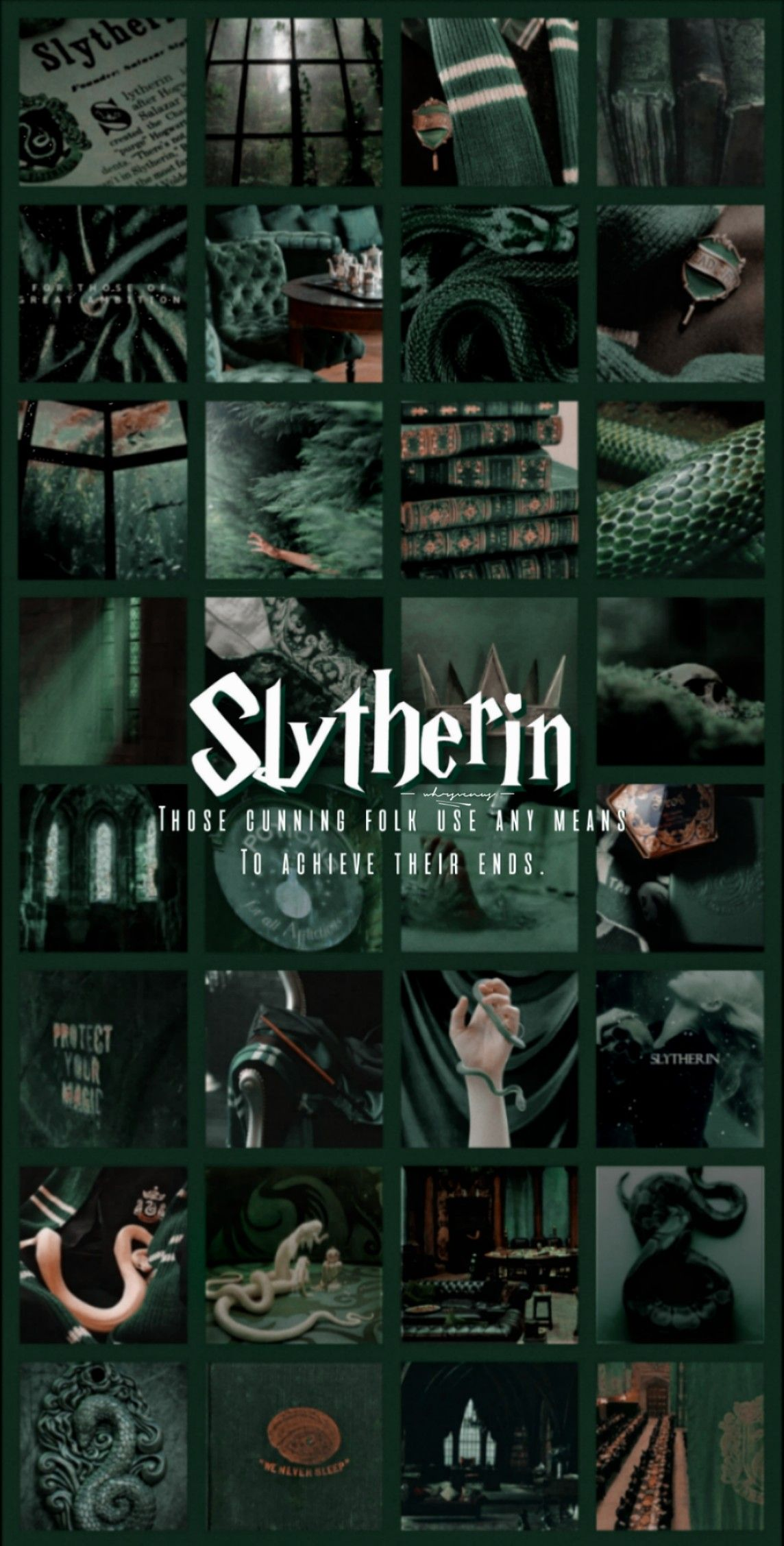 Slytherin House Aesthetic