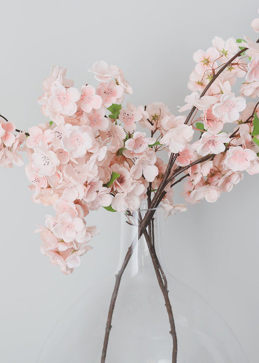 Artificial Cherry Blossom In Pastel Pink 44 In 2020 Faux Flowers Wedding Flowers Lilac Wedding Bouquet