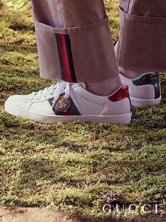 e6f286ef55a Zapatos Gucci Ace Sneakers
