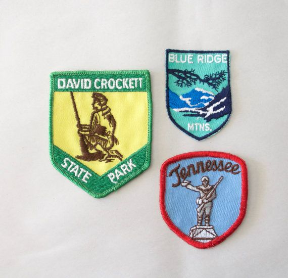 Vintage LOT Tennessee Patches State Park Patch Roadtrip Souvenir