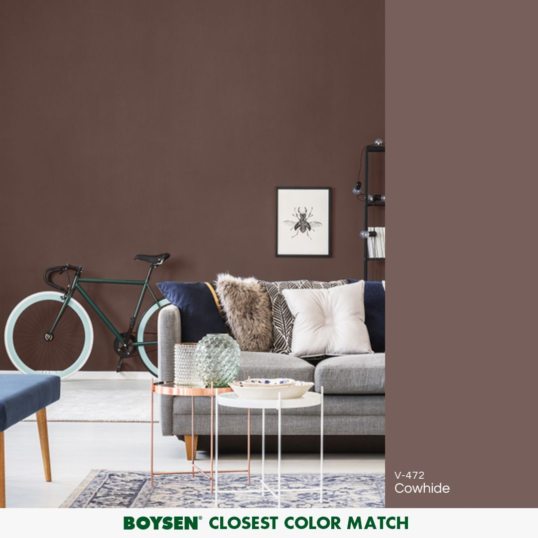 Rich neutral and warm brown can add drama to small spaces and add coziness