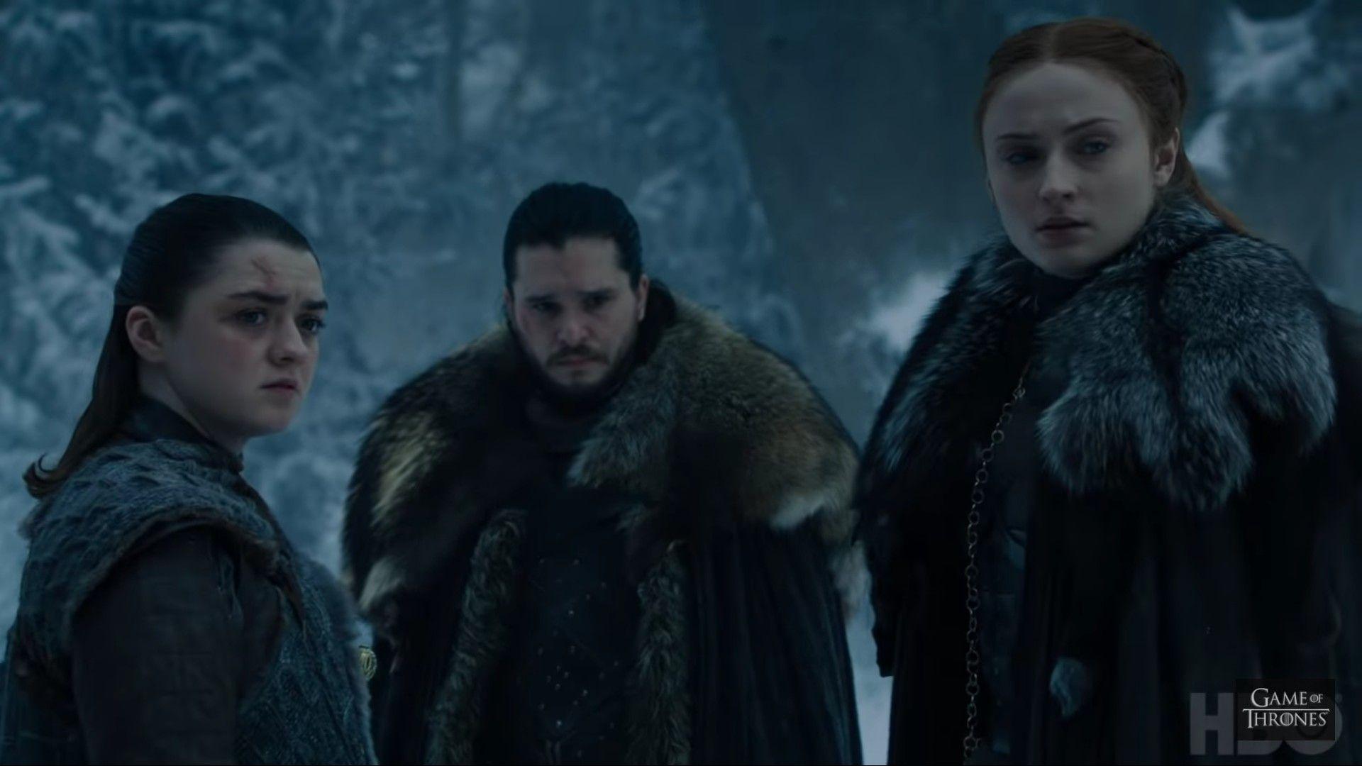 Jon Sansa Arya 8x4 The Last Of The Starks Sansa And Margaery Jon And Arya Arya And Sansa