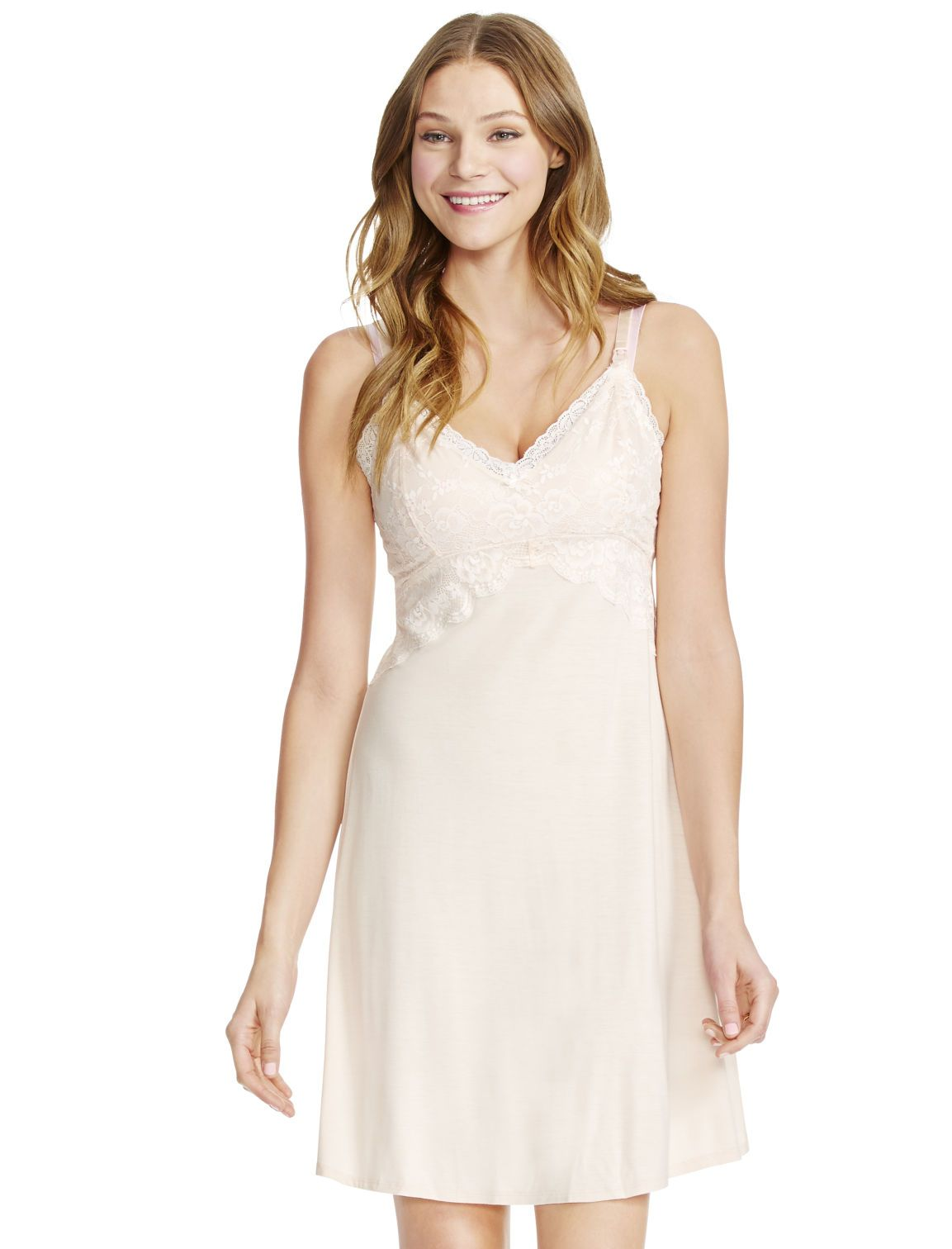 15613aa44c7bc Motherhood Maternity Jessica Simpson Lace Nursing Nightgown | Spring ...