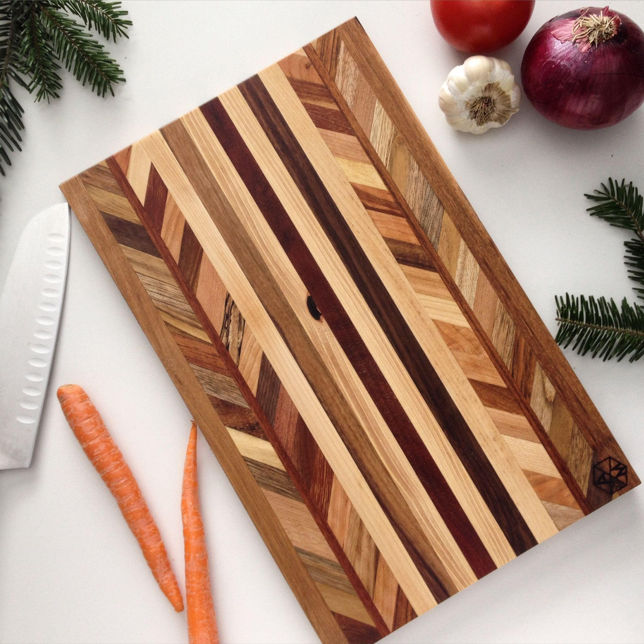 chevron reclaimed wood cutting board the best cutting board ever created perhaps projects. Black Bedroom Furniture Sets. Home Design Ideas