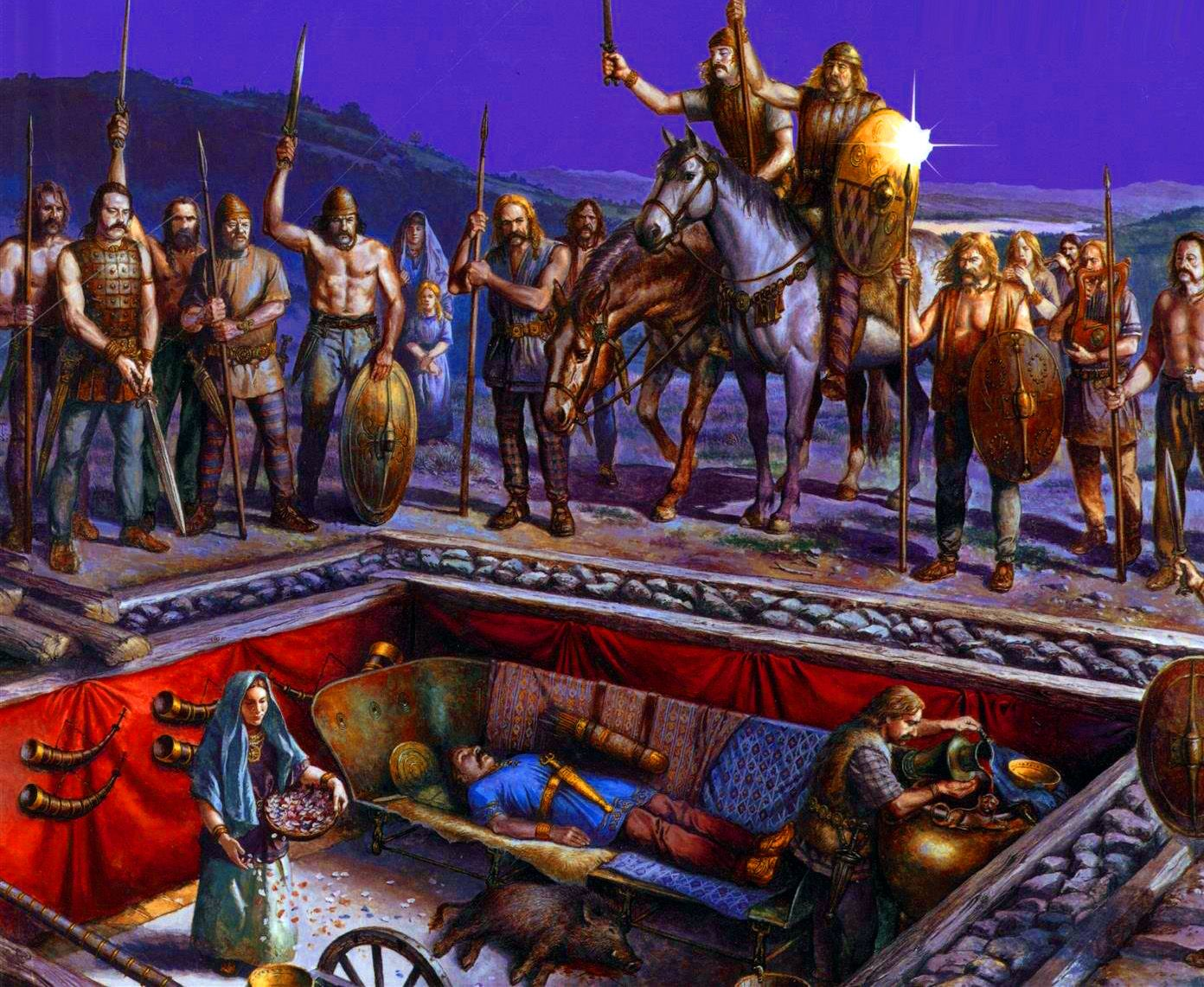 Gallic burial rite for the chieftain | Ancient humans, Ancient warfare,  Ancient celts