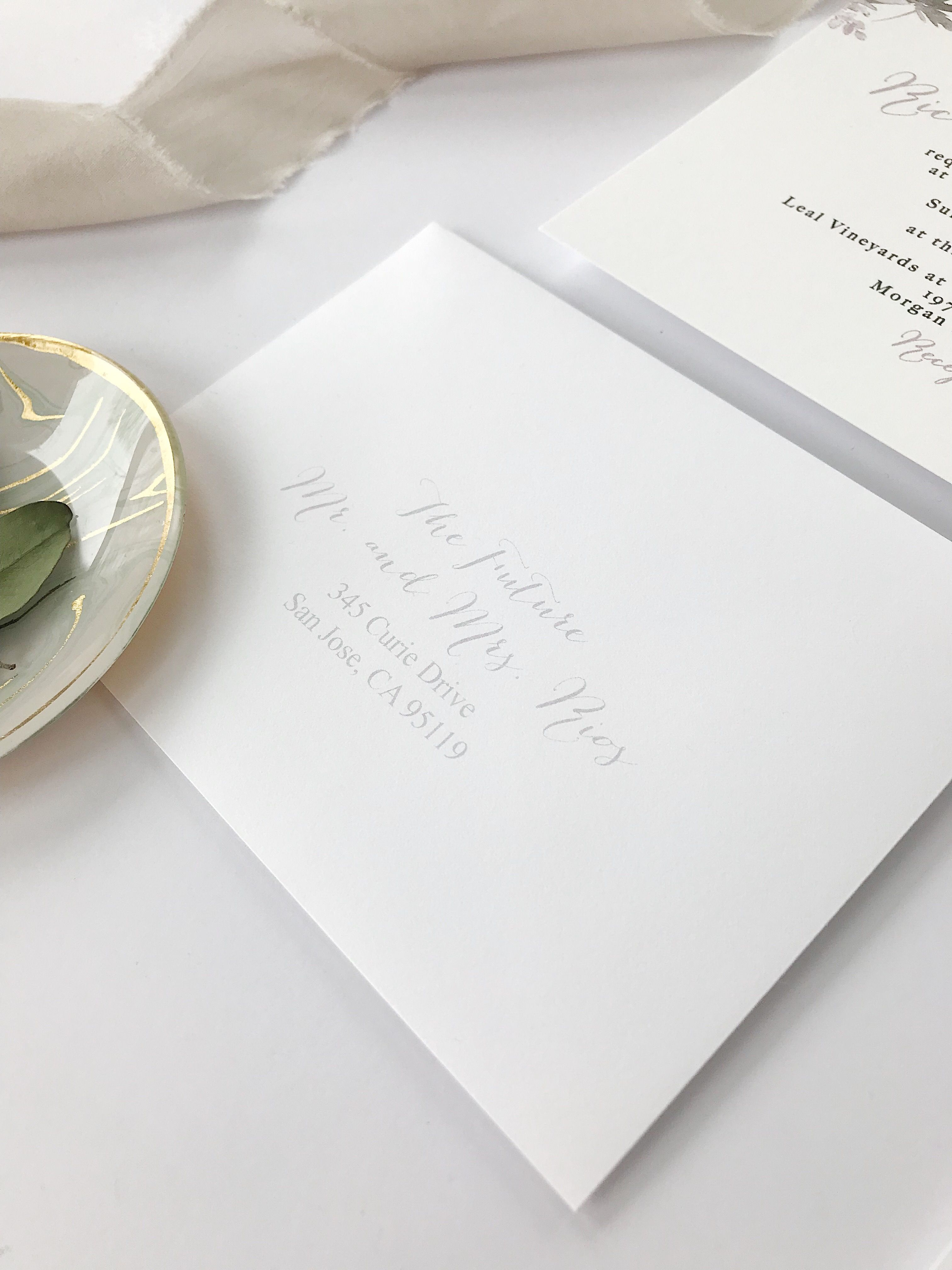 Invitation Reveal: Lilac, Grey & White Floral | Addressing wedding ...