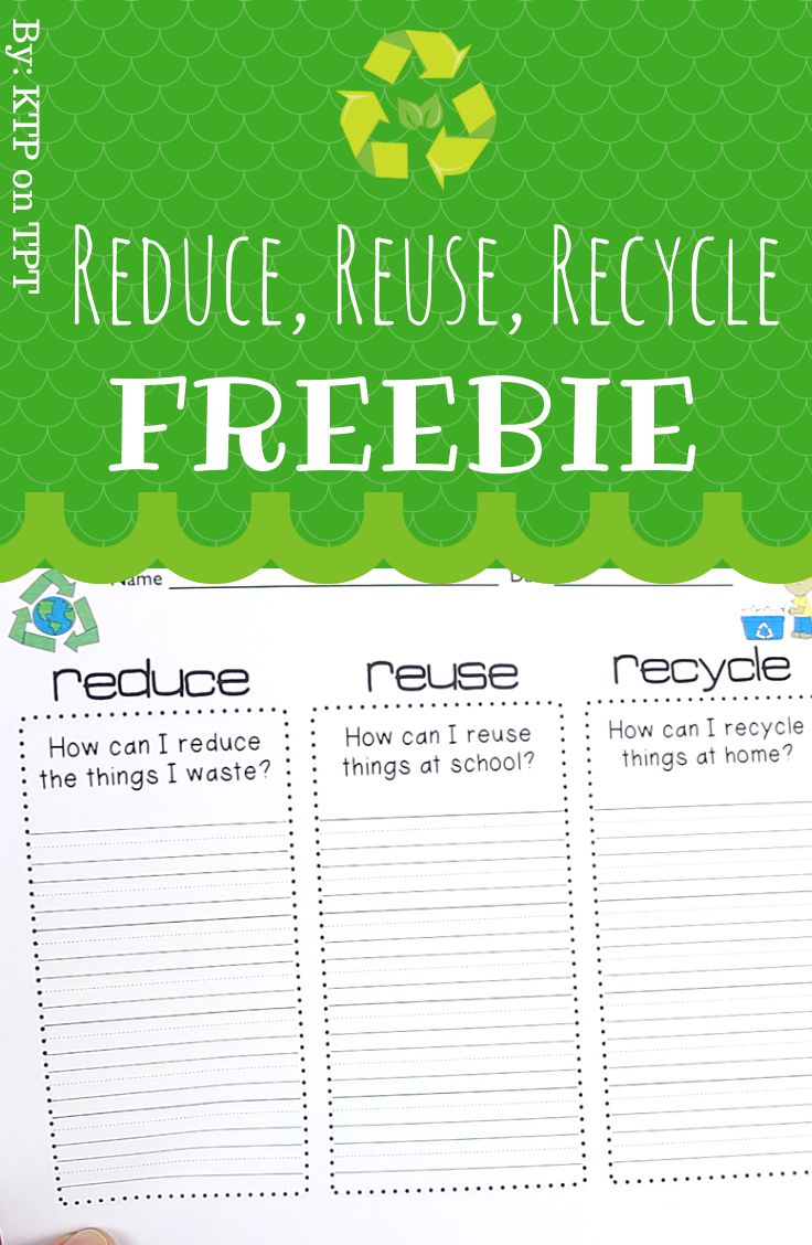 Reduce Reuse Recycle Freebie By Ktp On Tpt Fourthgradefriends