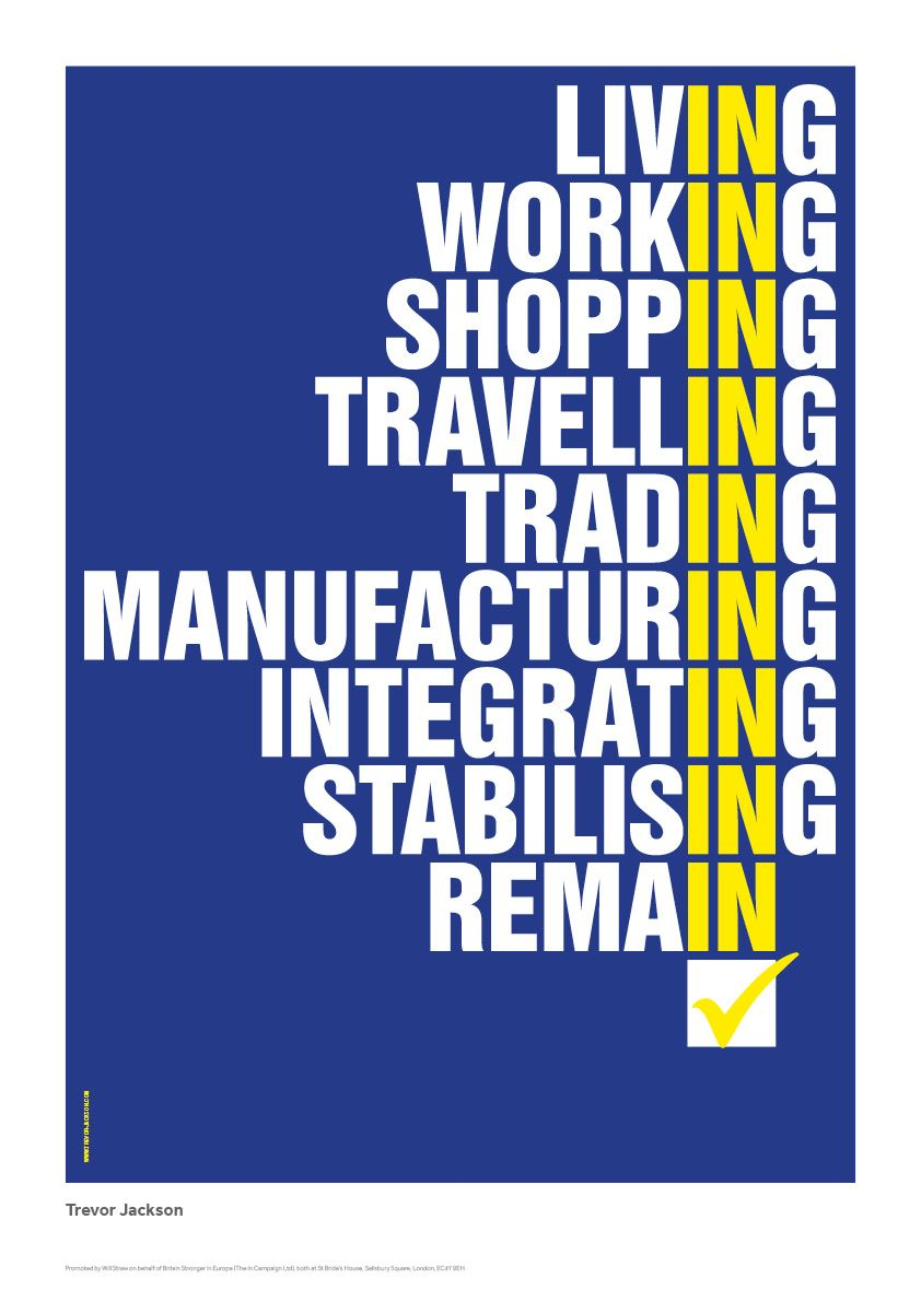 Anti Brexit REMAIN Trevor Jackson Poster News