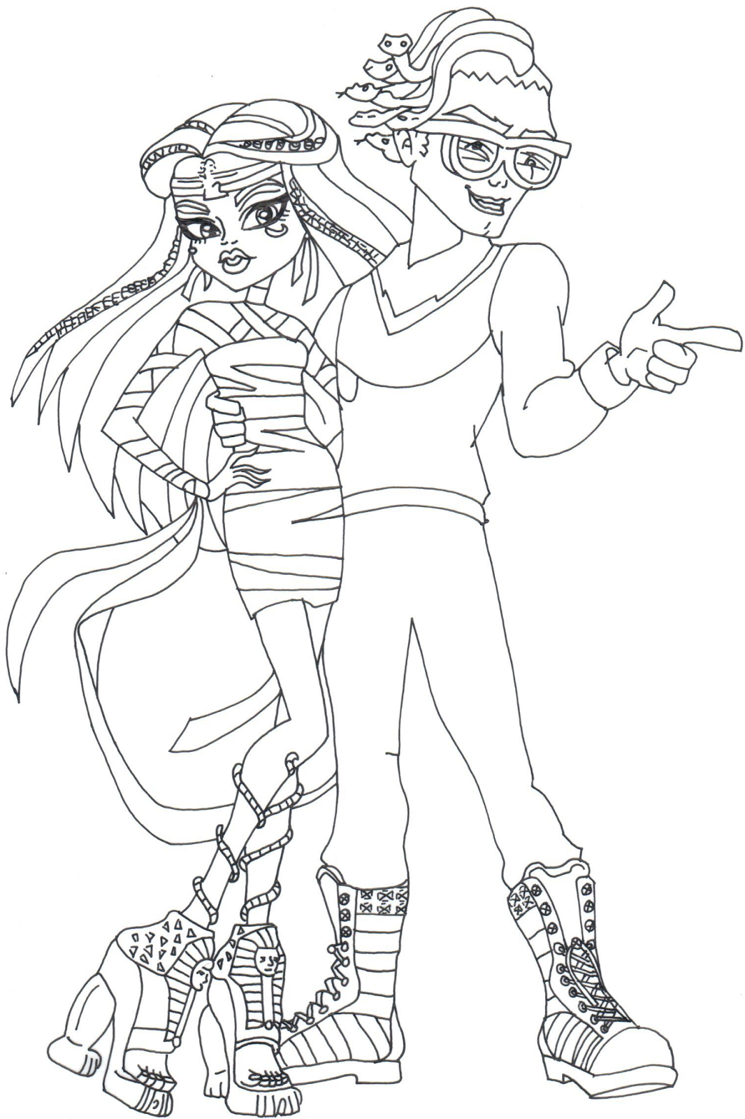 Boo York Cleo Deuce Monster High Coloring Pages Png 1066 1600