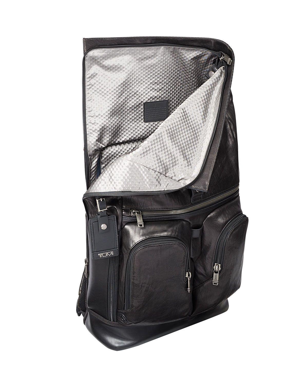de7aeeec340 Tumi Alpha Bravo London Leather Roll-Top Backpack