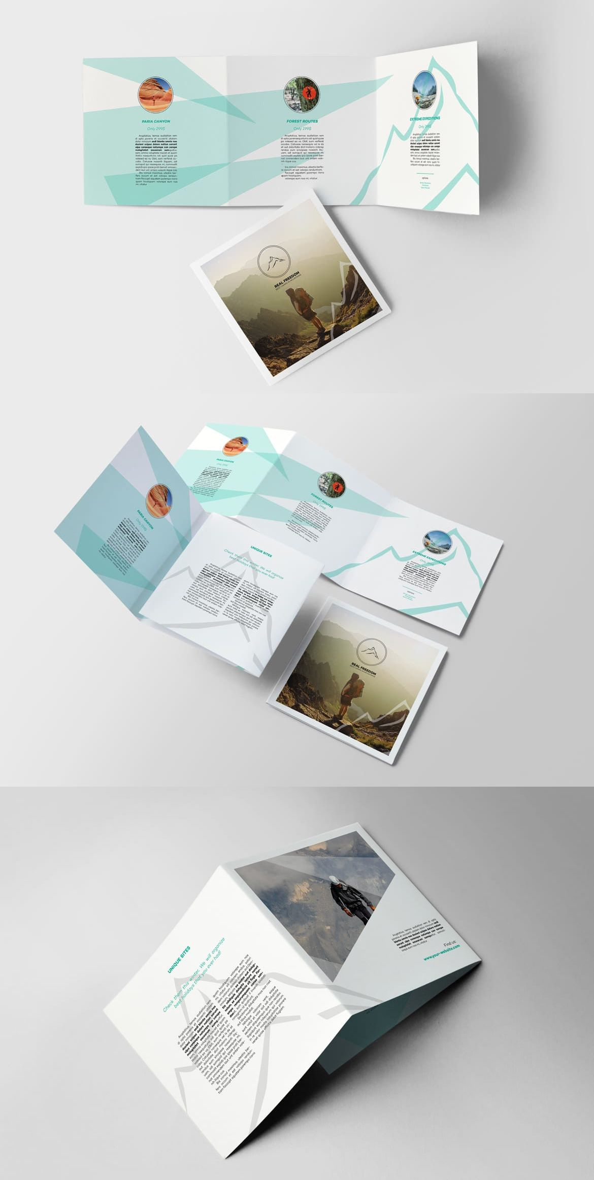 Color Brochure for Mountains, Expedition and Hiking Content ...
