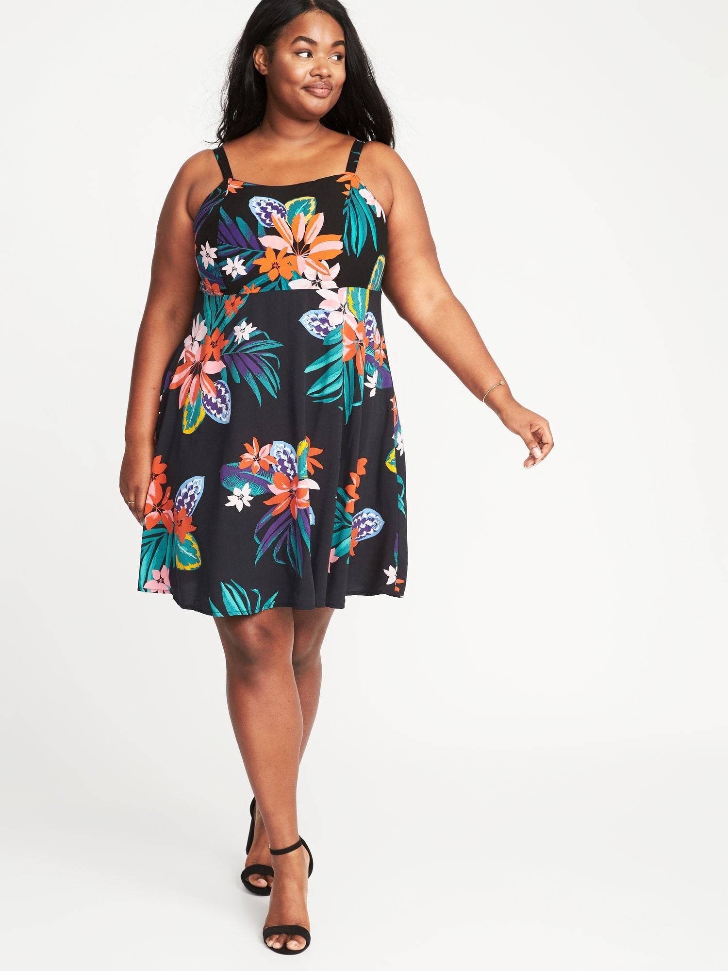 Plus-Size Fit & Flare Cami Dress | Old Navy | Fashionista in ...