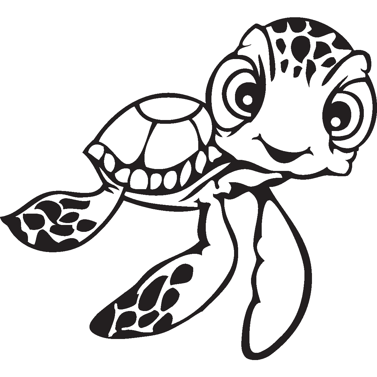 nemo turtle artwork black and white - Google Search | Disney ...