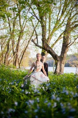 Bethesda MD Bluebells Engagement Session | Leslie Swan Photography