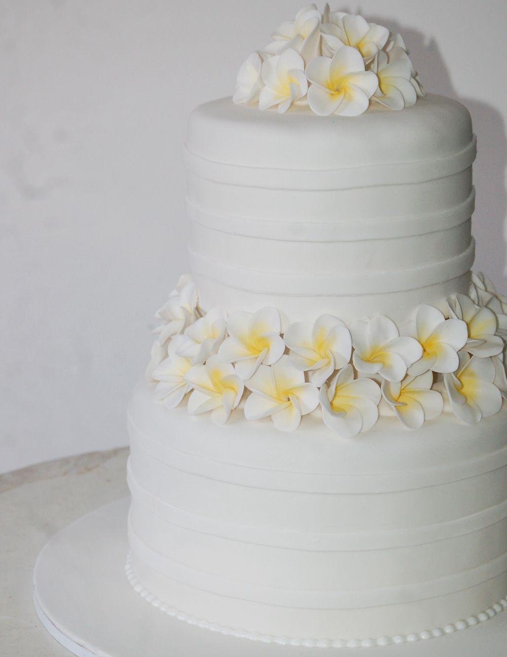Bali wedding cake with frangipanis. http://www.ixoracakes.com/ ixora ...
