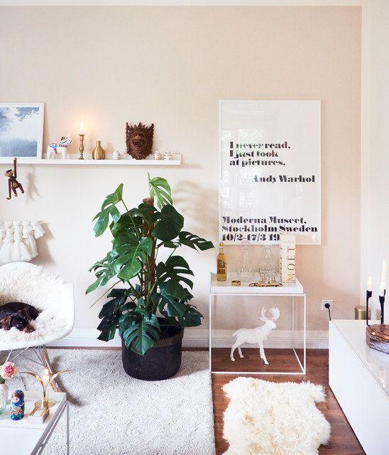 Urban Jungle Im Wohnzimmer Monstera Livingroom Einrichtung Interior