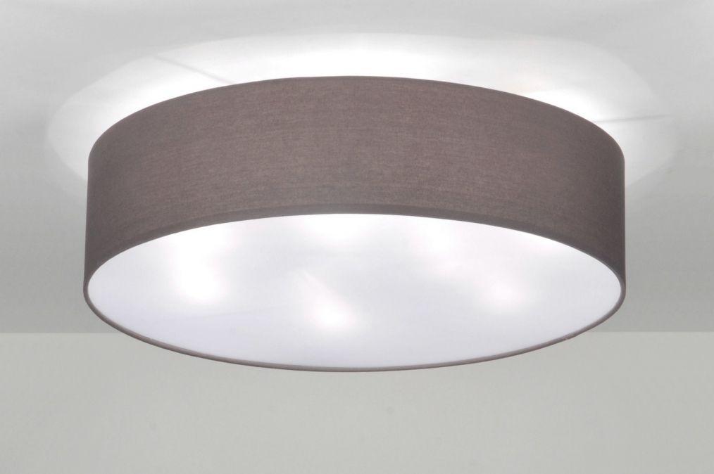 deckenleuchte 71392 modern metall stoff grau rund wohnen pinterest metall grau und stoffe. Black Bedroom Furniture Sets. Home Design Ideas