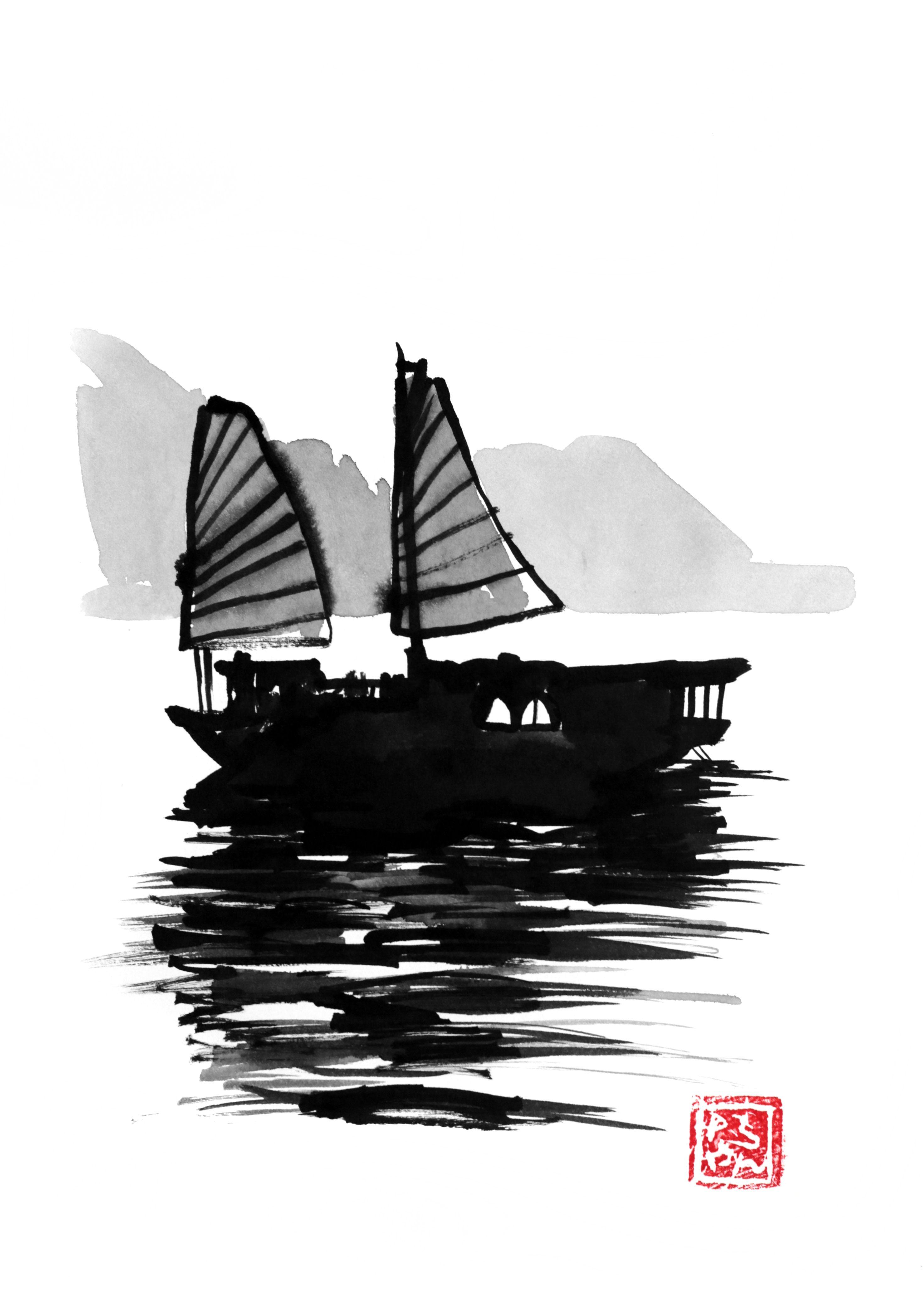 Epingle Par Bob Dickinson Sur Encre De Chine En 2020 Peinture Bateau Les Arts Encre De Chine