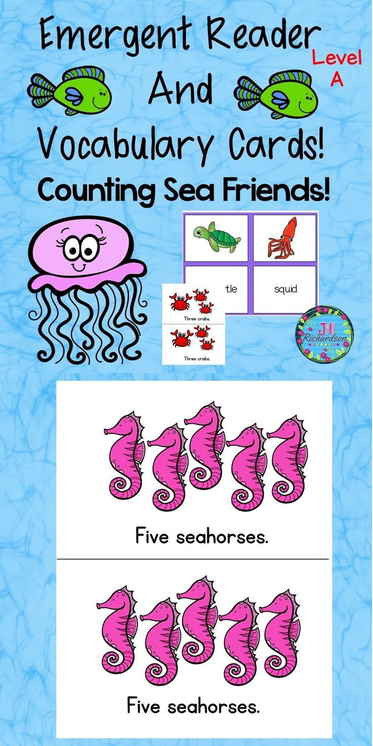 Ocean Animals Counting Sea Friends Is Great For Preschool And Kindergarten Classrooms This Level A Reader Emergent Readers Vocabulary Cards Teaching Counting [ 1472 x 736 Pixel ]