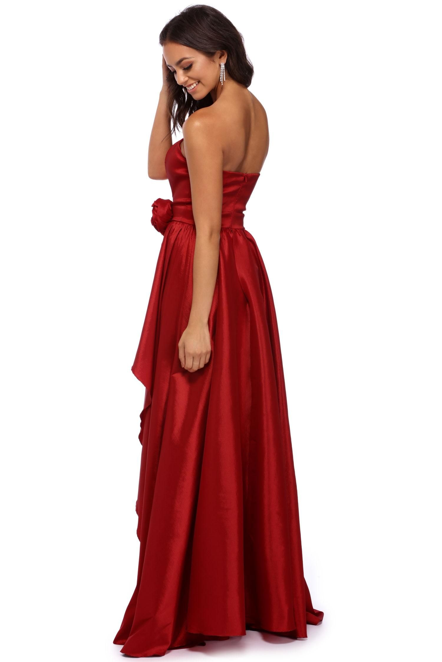 Arabelle red strapless ball gown ball gowns and gowns