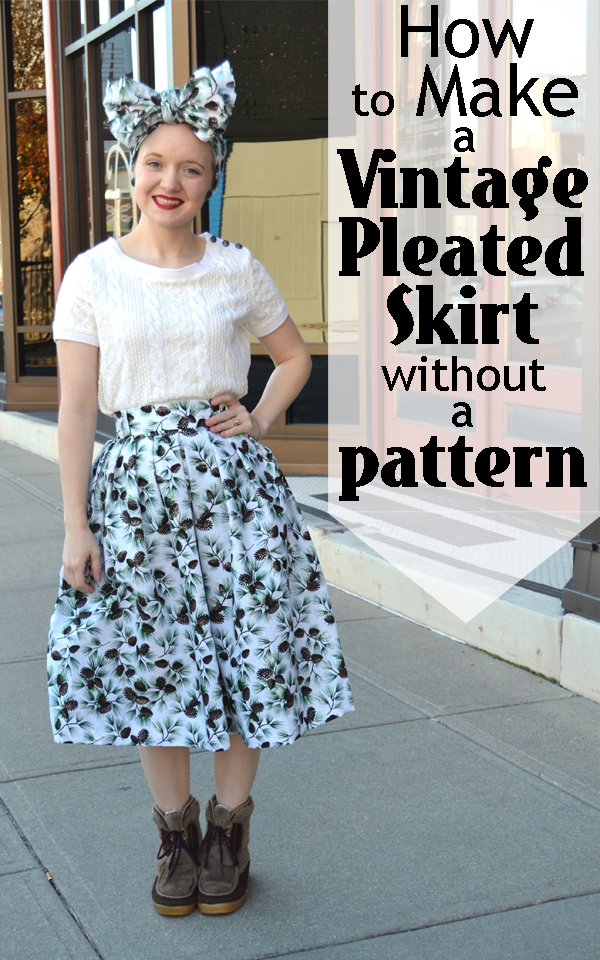 a9d901008d1 Flashback Summer  How to Make a Vintage Pleated Skirt without a Pattern