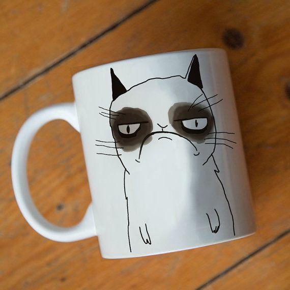 grumpy cat nope mug Design by mugxagrip cup white mug by mugxagrip