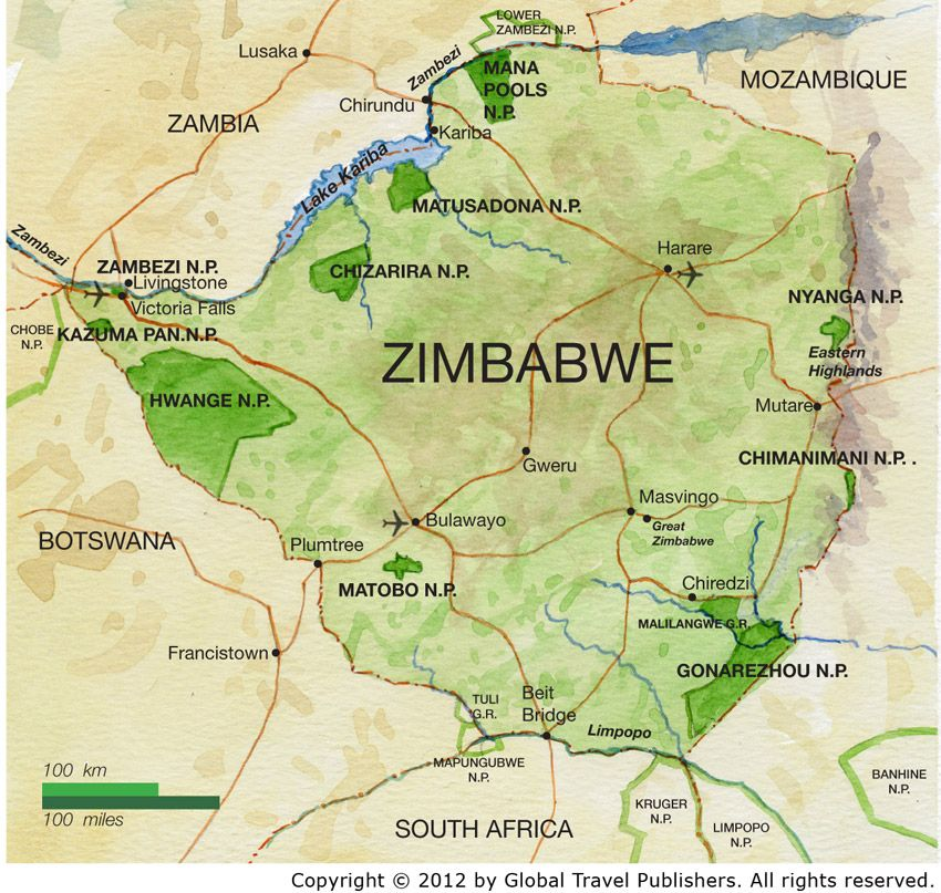 map of zimbabwe africa | The Africa Adventure Company   Map of