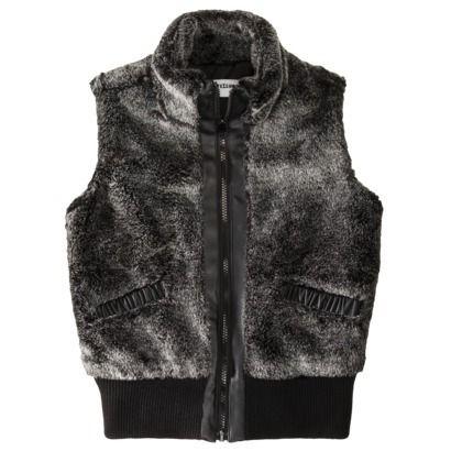 Girls' Faux Fur Vest - Black M(7-8)   $24.49